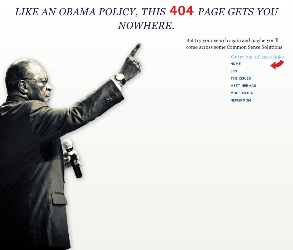 404 page for hermancain.com